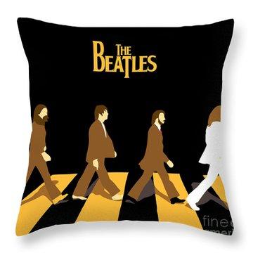 The Beatles No.19 Throw Pillow by Caio Caldas