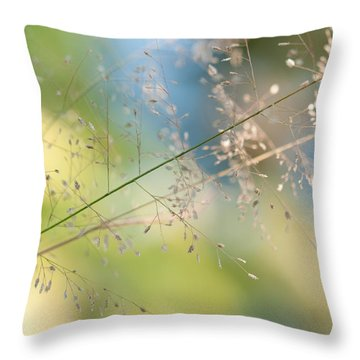 The Beauty Of The Earth. Natural Watercolor Throw Pillow by Jenny Rainbow