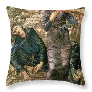 The Beguiling Of Merlin Throw Pillow by Sir Edward Burne-Jones