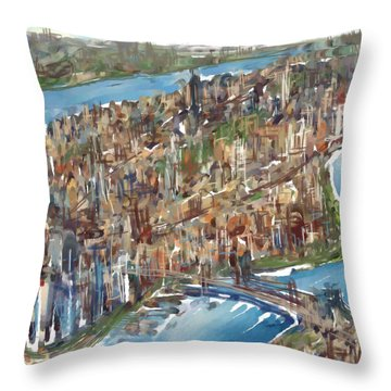 The Big Apple Throw Pillow by Russell Pierce