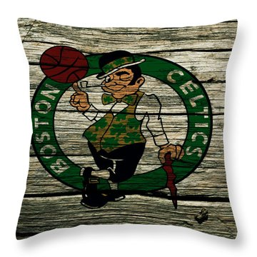 The Boston Celtics 2w Throw Pillow by Brian Reaves