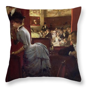 The Box By The Stalls Throw Pillow by Jean Beraud