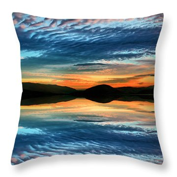 The Brush Strokes Of Evening Throw Pillow by Tara Turner