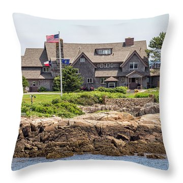 The Bush Compound Kennebunkport Maine Throw Pillow by Brian MacLean