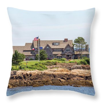 The Bush Family Compound On Walkers Point Throw Pillow by Brian MacLean