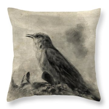 The Call Of The Mockingbird Throw Pillow by Jai Johnson