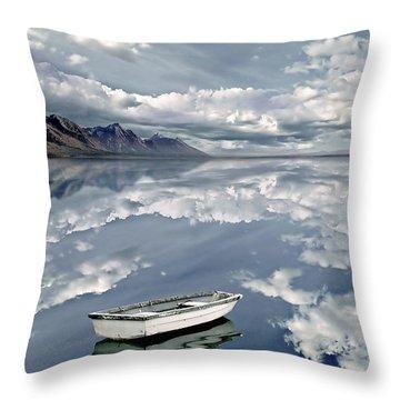 The Calm Throw Pillow by Jacky Gerritsen