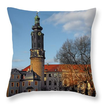 The Castle - Weimar - Thuringia - Germany Throw Pillow by Christine Till