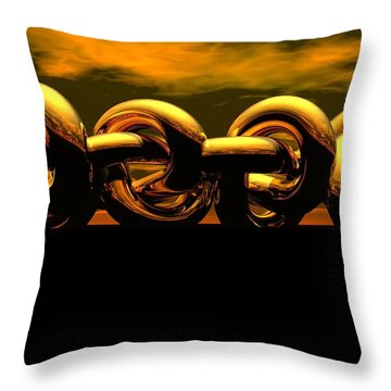 The Chain Throw Pillow by Robert Orinski