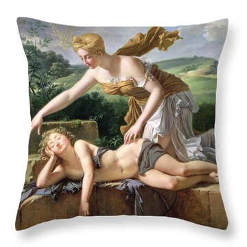 The Child Of Fortune Throw Pillow by Pierre Bouillon