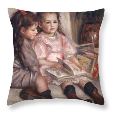 The Children Of Martial Caillebotte Throw Pillow by Pierre Auguste Renoir