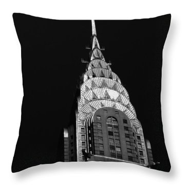 The Chrysler Building Throw Pillow by Vivienne Gucwa