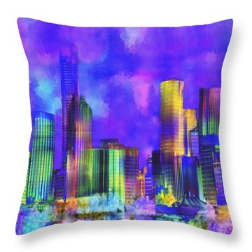 The City  Sydney Throw Pillow by Kurt Van Wagner
