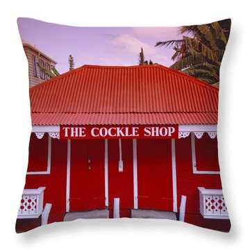 The Cockle Shop Throw Pillow by Shaun Higson