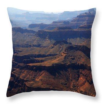 The Colorado River Throw Pillow by Susanne Van Hulst