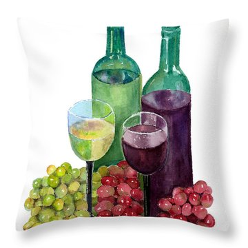 The Colors Of Wine Throw Pillow by Arline Wagner