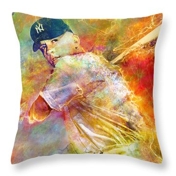 The Commerce Comet Throw Pillow by Mal Bray