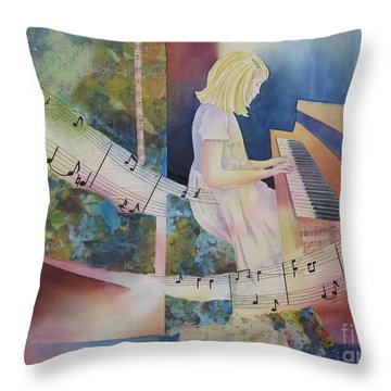 The Composition Throw Pillow by Deborah Ronglien