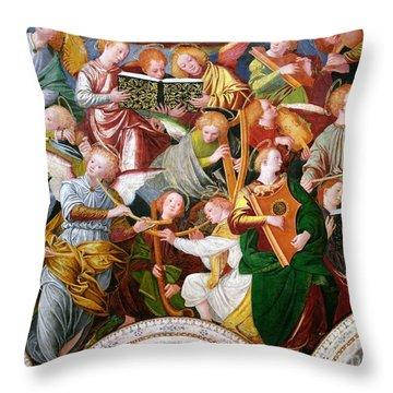 The Concert Of Angels Throw Pillow by Gaudenzio Ferrari