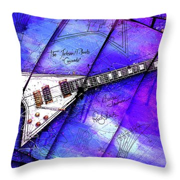 The Concorde On Blue Throw Pillow by Gary Bodnar