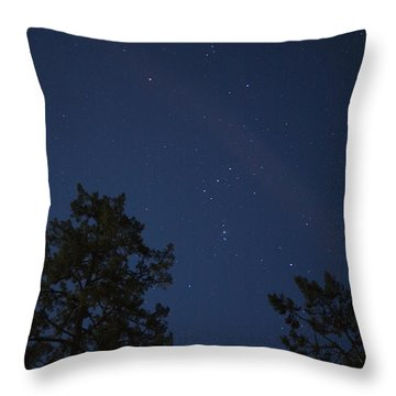 The Constellation Orion At Night Throw Pillow by Taylor S. Kennedy