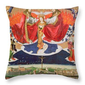 The Coronation Of The Virgin Throw Pillow by Enguerrand Quarton