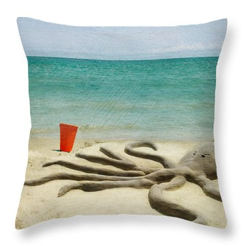 The Creature Throw Pillow by Juli Scalzi