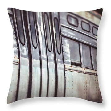 The Cta Train Throw Pillow by Lisa Russo