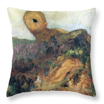 The Cyclops Throw Pillow by Odilon Redon