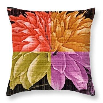 The Dahlia Throw Pillow by Gwyn Newcombe