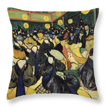 The Dance Hall At Arles Throw Pillow by Vincent Van Gogh
