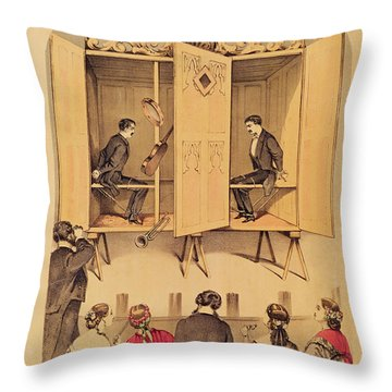 The Davenport Brothers Throw Pillow by English School
