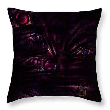 The Deceiver Throw Pillow by Rachel Christine Nowicki