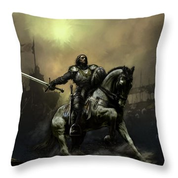 The Defiant Throw Pillow by David Willicome