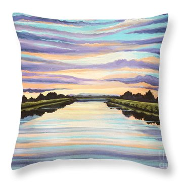 The Delta Experience Throw Pillow by Elizabeth Robinette Tyndall