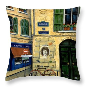 The Doors Throw Pillow by Marilyn Dunlap
