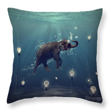 The Dreamer Throw Pillow by Martine Roch