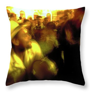 The Drummer Throw Pillow by Michael Mogensen