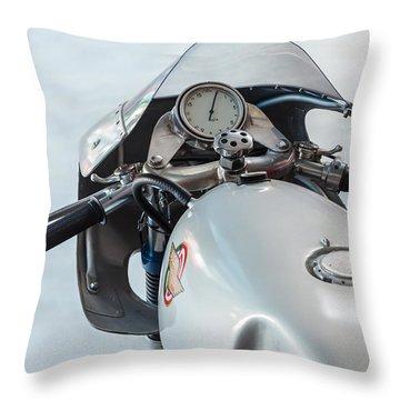 The Ducati Throw Pillow by Martin Bergsma