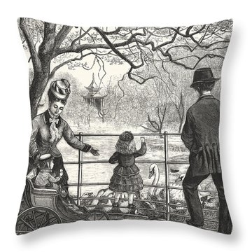 The Easter Holidays Throw Pillow by Unknown