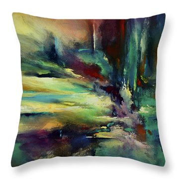 'the Edge' Throw Pillow by Michael Lang