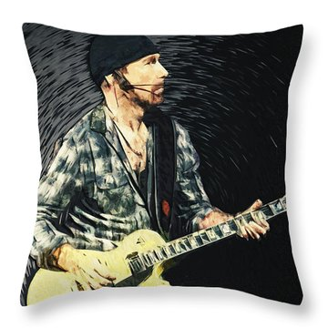 The Edge Throw Pillow by Taylan Apukovska