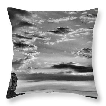 The End Of The Day, Old Hunstanton  Throw Pillow by John Edwards