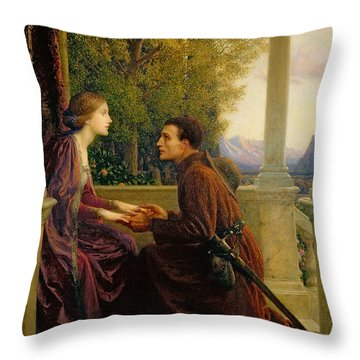 The End Of The Quest Throw Pillow by Sir Frank Dicksee
