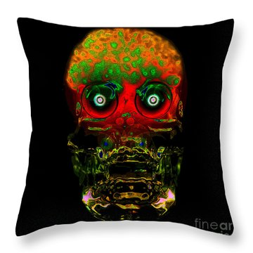 The Face Of Man Throw Pillow by David Lee Thompson
