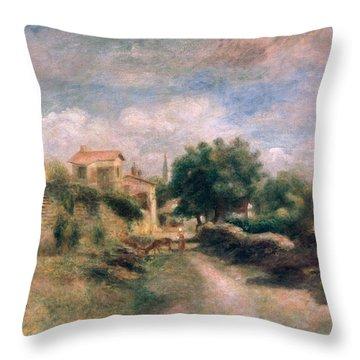 The Farm Throw Pillow by Renoir
