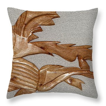 The Fish Skeleton Throw Pillow by Robert Margetts