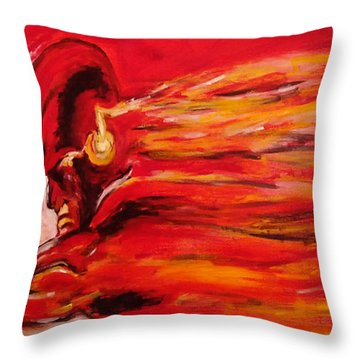 The Flash Comic Book Superhero Character Flash Gordon Lightning In Red Yellow Acrylic Cotton Canvas  Throw Pillow by M Zimmerman MendyZ