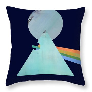 The Floyd's Dark Side Throw Pillow by Jacquie Gouveia