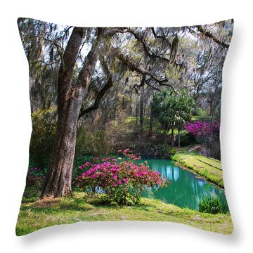 The Garden In The Abbey Throw Pillow by Susanne Van Hulst